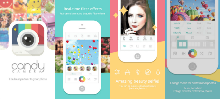 Candy Camera-Selfie Apps For iOS and android