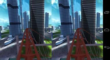 Google Cardboard apps - Dive City Rollercoaster