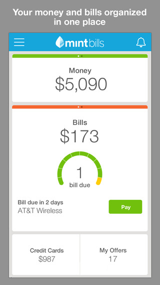 Mint Bills & Money  Control Your Account with iOS Devices