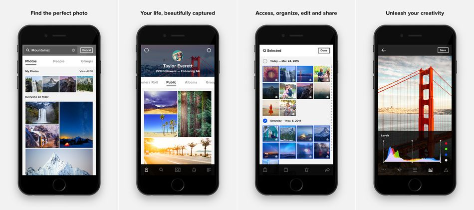Flickr-Image Photo Editing Apps for iPhone