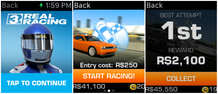Top 10 Games For Apple Watch-Real Racing 3
