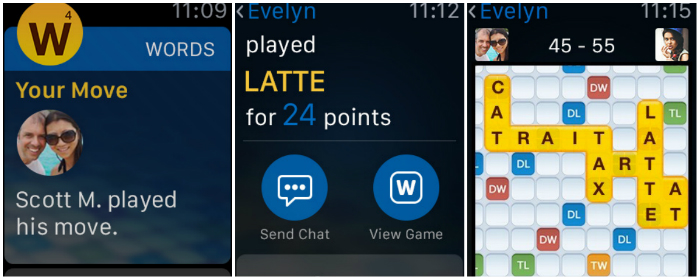 Top 10 Games For Apple Watch-Words with Friends