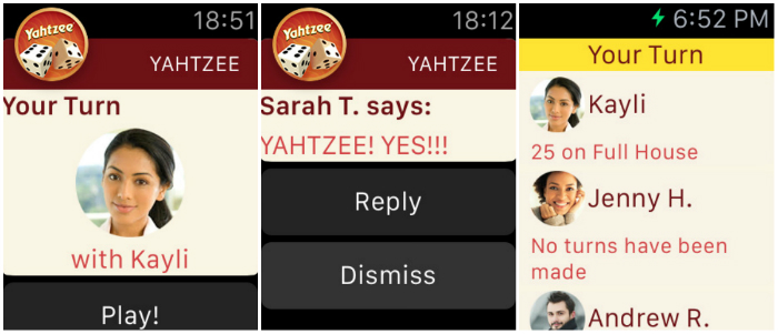 Top 10 Games For Apple Watch-YAHTZEE With Buddies