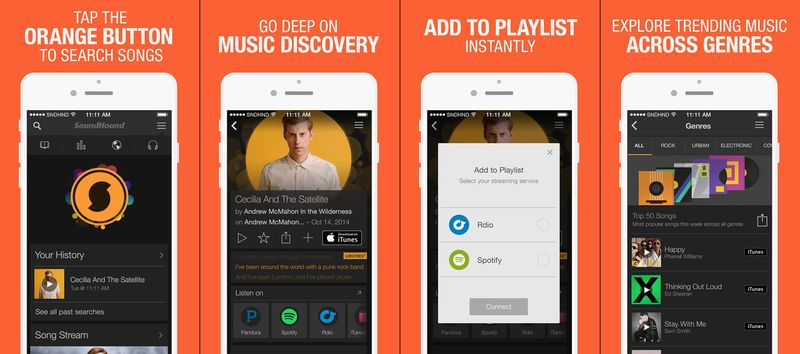 What Song is This Apps to Identify Music Online-SoundHound LiveLyrics Search Discover and Play Music