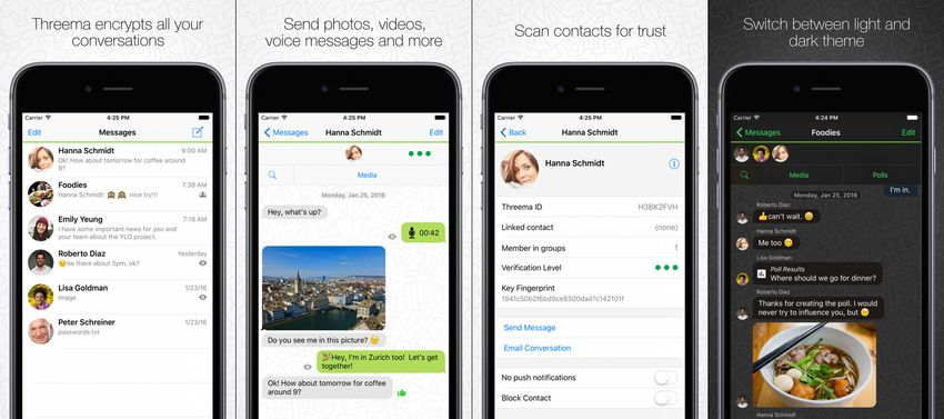 Threema Private Messaging Apps for iOS Devices