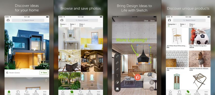 Best augmented reality apps for ios appdazzle - Houzz interior design ...